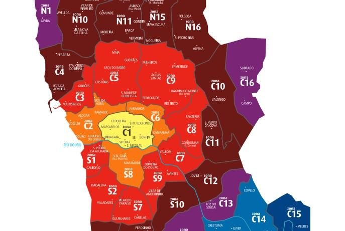 Komunikacja miejska transporto publiczny Porto zony strefy podział jak działa opis ceny rodzaje biletów Andante 2017 przewodnik po Porto