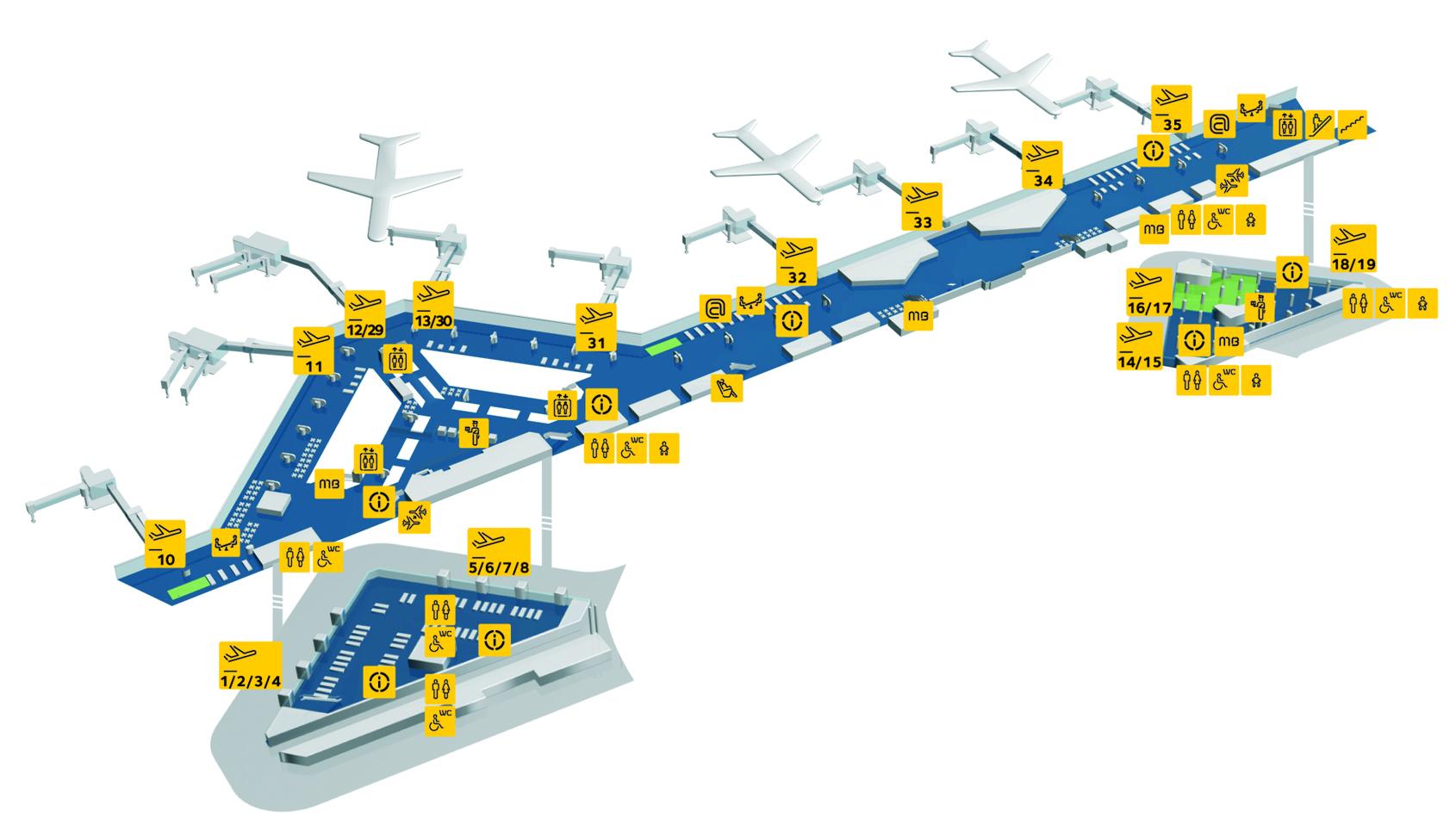 Lotnisko w Porto Portugalia mapa plan hala odlotów Aeroporto Porto planta opis informacje przewodnik dojazd jak dojechać info zdjęcia fotografie