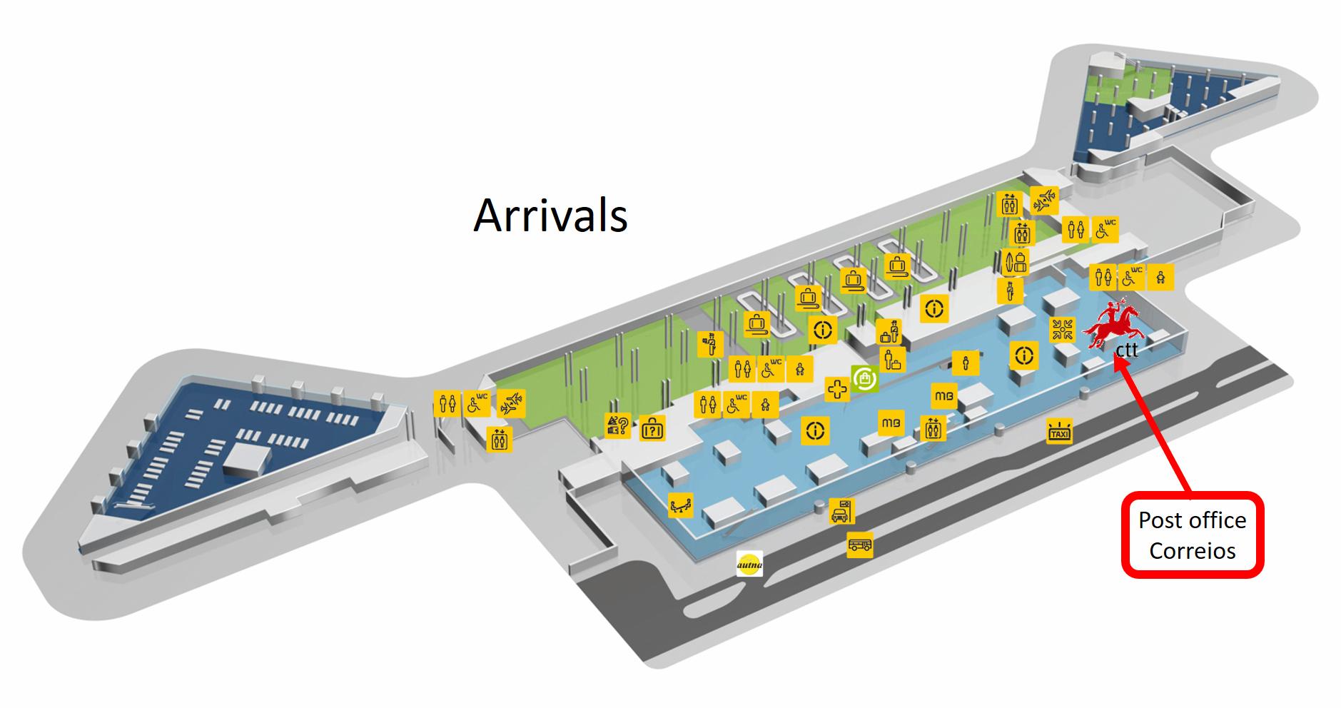 Lotnisko w Porto Portugalia mapa plan hala przylotów Aeroporto Porto planta opis informacje przewodnik dojazd jak dojechać info zdjęcia fotografie