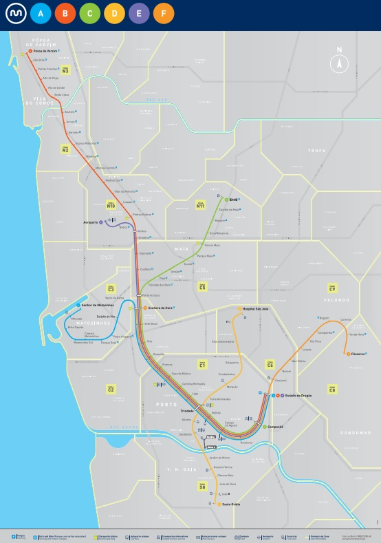Metro w Porto strefy zony schemat mapa opis informacje bilety ceny polski przewodnik po Porto