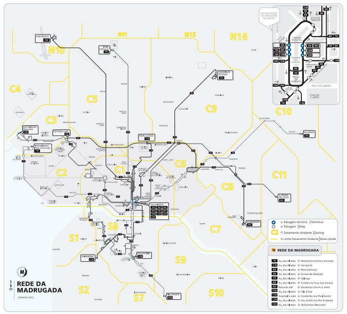 Porto autobusy nocne w Porto opis dojazd nocny na lotnisku rozkład jazdy cena informacje linie przewodnik lokalny po Porto