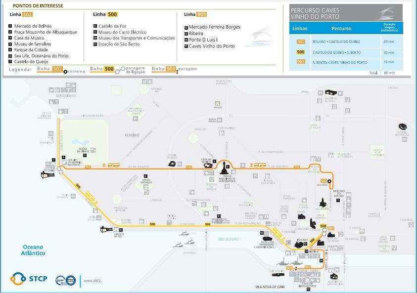 Porto autobusy turystyczne w Porto trasy informacje rozkład jazdy schemat STCP polski przewodnik po Porto 3