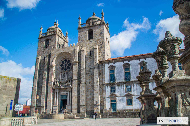 Porto Katedra Se w Porto Sé do Porto polski przewodnik kościół najświętszej marii Panny Oporto zwiedzanie historia zdjęcia fotografie terreiro da se zabytki i atrakcje turystyczne Portugalia