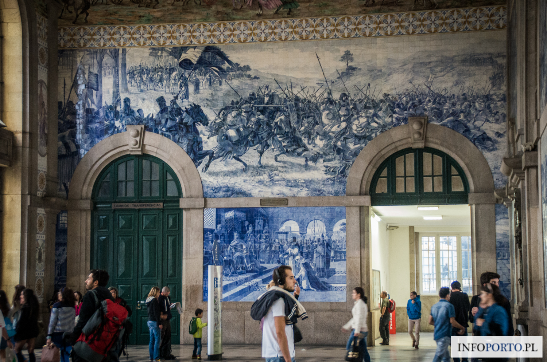 Sao Bento Porto stacja kolejowa dworzec kolejowy São Bento św Benedykta zabytki i atrakcje turystyczne w Porto Oporto zdjęcia fotografie photo pociągi