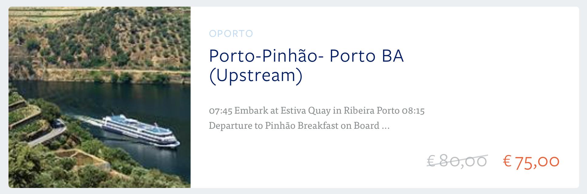 Rejsy po dolinie rzeki Douro zwiedzanie oferta bilety online Porto Portugalia Oporto Cruises Oferta Ceny 2018