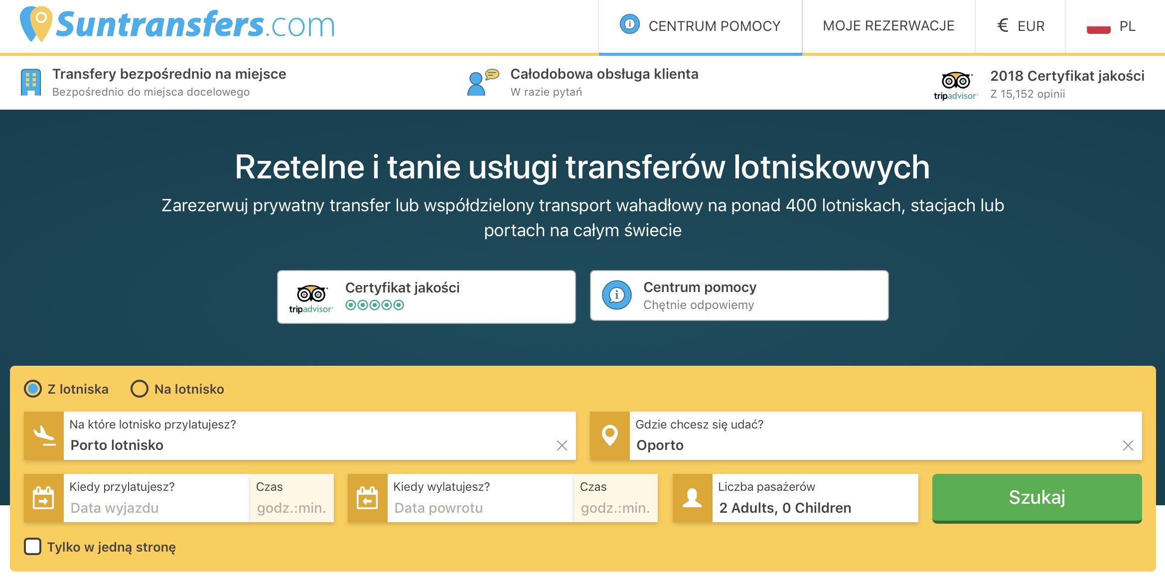 Porto prywatny transfer z lotniska na lotnisko dojazd transfery samochodowe jak dojechać cena informacje Portugalia